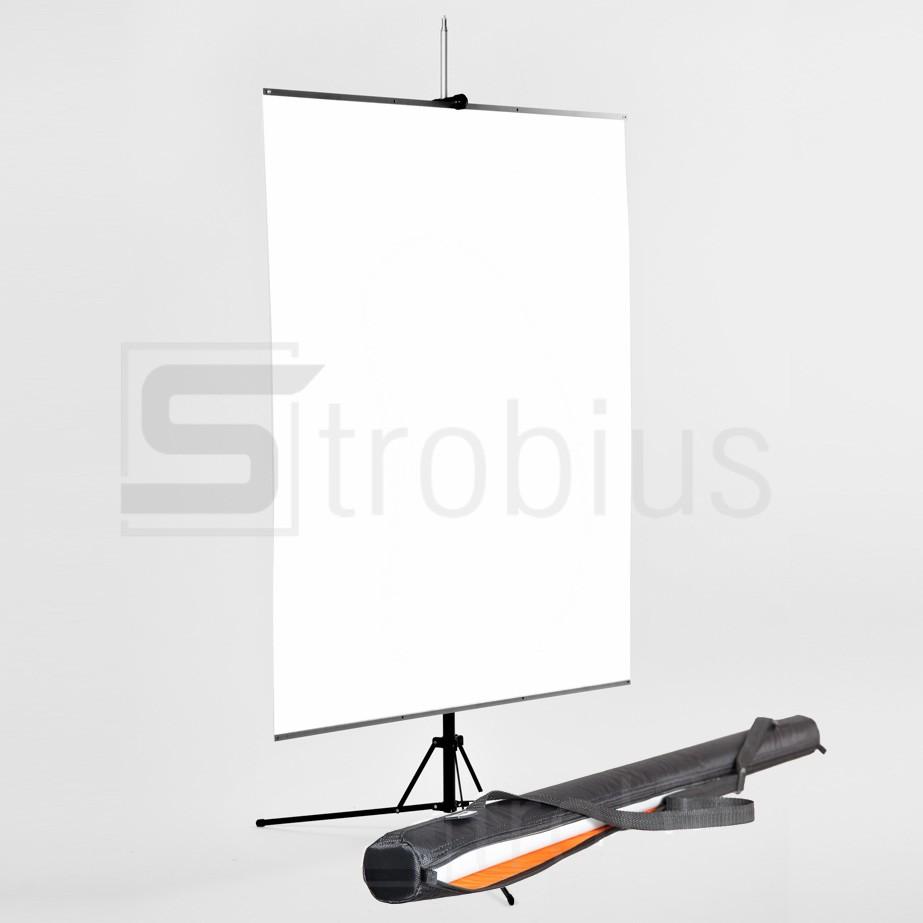 Фон пластиковый белый Strobius 100x140cм с держателем и чехлом
