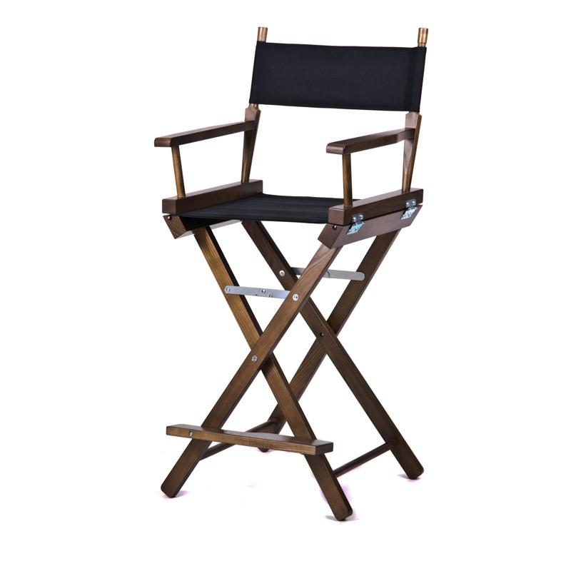Высокий деревянный режиссерский стул S-Light Premium (Dark Nut)