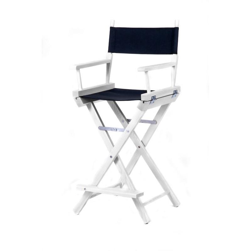 Высокий деревянный режиссерский стул S-Light Premium (White)
