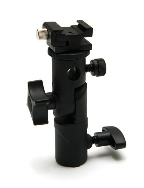 Держатель вспышки и зонта. Тип H, ( Bracket Flash Shoe Umbrella Holder Swivel Light Stand type H )