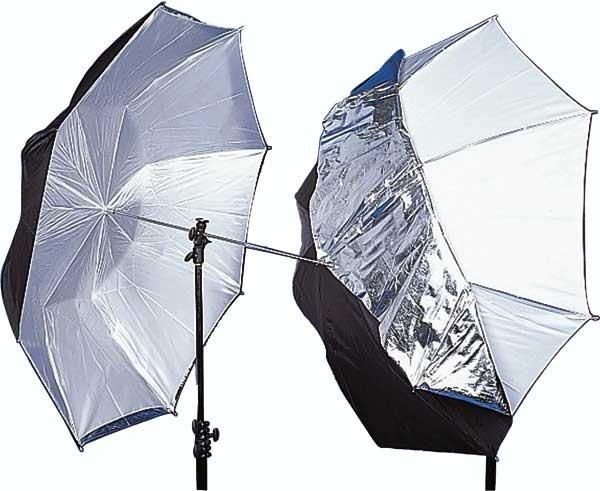 Зонт двухсторонний Mircopro черно-белый/полупрозрачный UB-007 85см