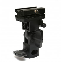 Bracket Flash Shoe Umbrella Holder Swivel Light Stand B