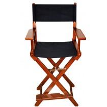 Высокий деревянный режиссерский стул с черной материей MIK OL01NBPremium