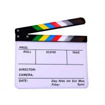 Цветная акриловая кинохлопушка Hollywood СB-001 26х32см