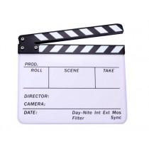Белая акриловая кинохлопушка Hollywood CB-002 26х32см