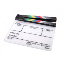 Кинохлопушка акриловая с гравировкой и цветной шкалой Hollywood HB-001 26x32см