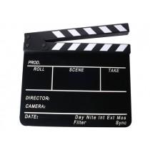Черная акриловая кинохлопушка с гравировкой Hollywood HB-003 26х32см