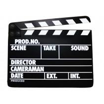 Черная деревянная кинохлопушка Hollywood WB-001 26х32см
