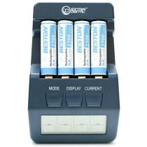 Зарядное устройство ExtraDigital BM100 Blue + 4 AA 2700 mAh Beston