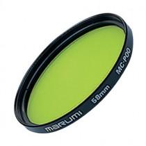 Желто-зеленый светофильтр Marumi P00 49мм для черно-белой фотографии.