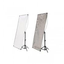 Hyundae Photonics отражатель 2в1 White/Silver 80х120см