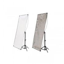 Hyundae Photonics отражатель 2в1 White/Metal Silver 100x180см