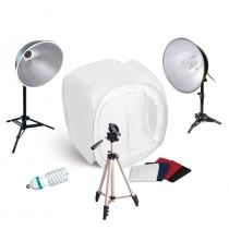 Набор студийного света для предметной съемки SL-2 Macro Kit с лайтбоксом 80см и набором осветителей 2x65W