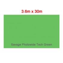 Супер широкий студийный бумажный фон Savage Photowide Tech Green Cromakey 3.60x30м