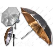 Зонт двухсторонний Mircopro UB-005G золотистый/серебристый 85см
