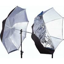 Зонт двухсторонний Mircopro черно-белый/полупрозрачный UB-007 100см