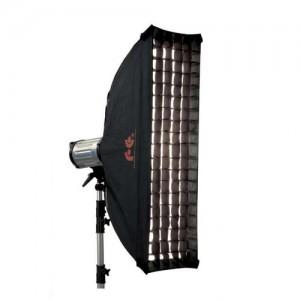 Softbox strip w/grid Falcon Eyes 30x160см SQ