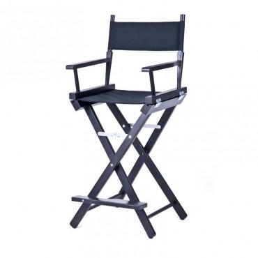 Высокий деревянный режиссерский стул S-Light Premium (Black)