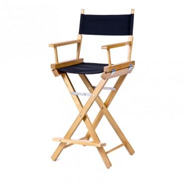 Высокий деревянный режиссерский стул S-Light Premium (Ash)